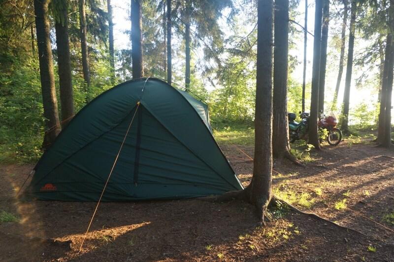 на валдай с палаткой